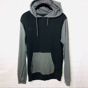 Quicksilver Hooded Raglan Long Sleeve Tee